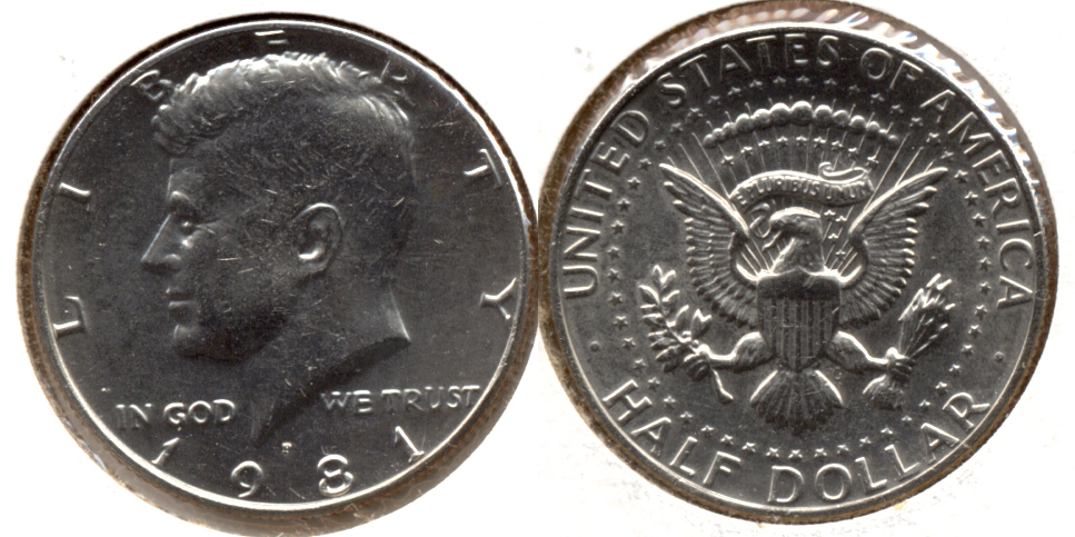 1981-P Kennedy Half Dollar Mint State