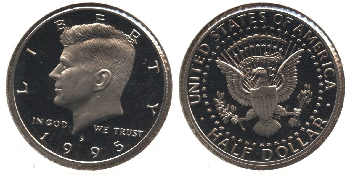 1995-S Clad Kennedy Half Dollar Proof