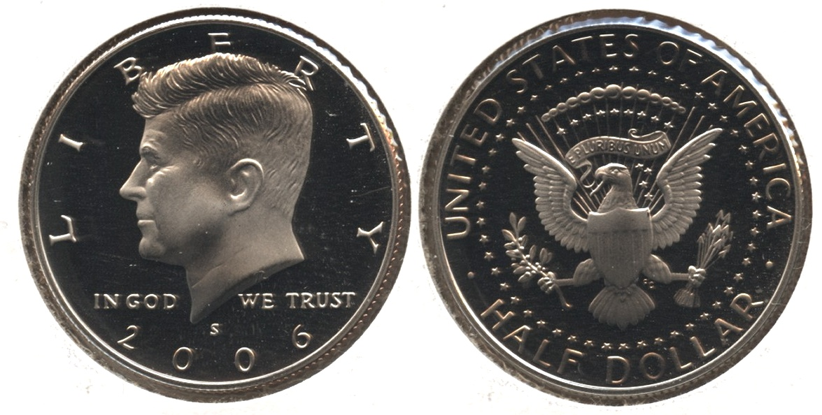 2006-S Clad Kennedy Half Dollar Proof