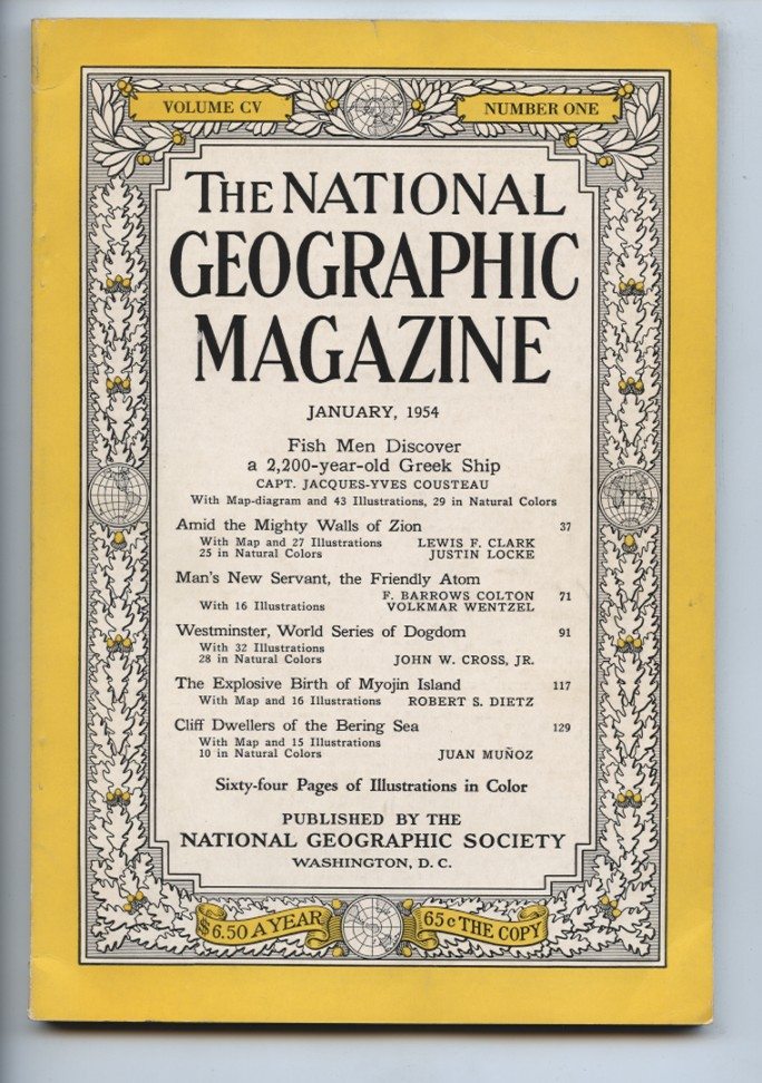 National Geographic Magazine January 1954