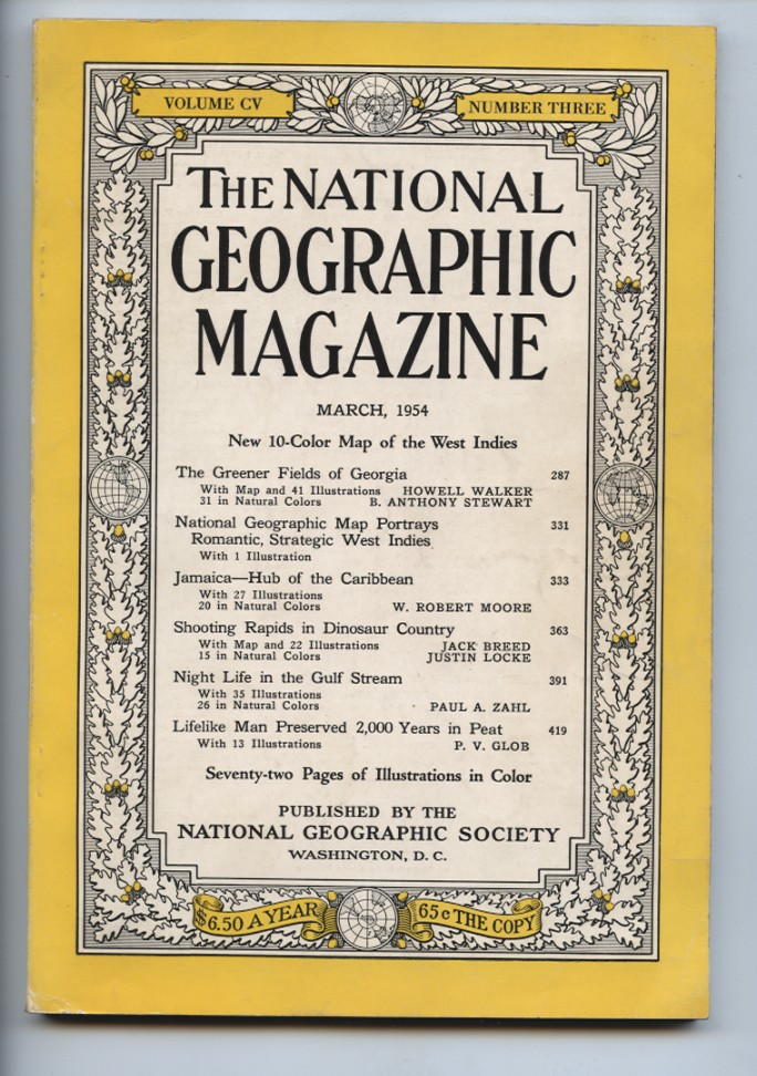 National Geographic Magazine March 1954