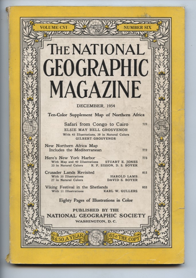 National Geographic Magazine December 1954