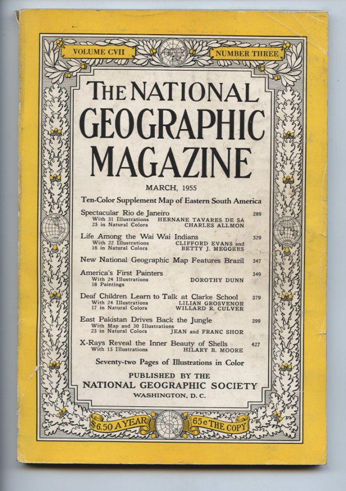 National Geographic Magazine March 1955