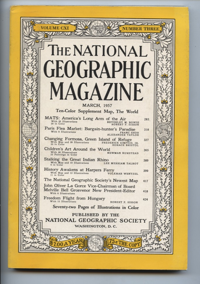 National Geographic Magazine March 1957