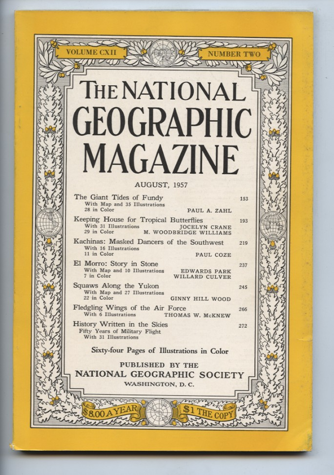 National Geographic Magazine August 1957