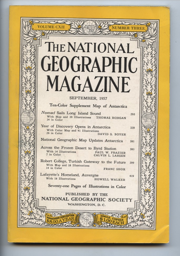 National Geographic Magazine September 1957