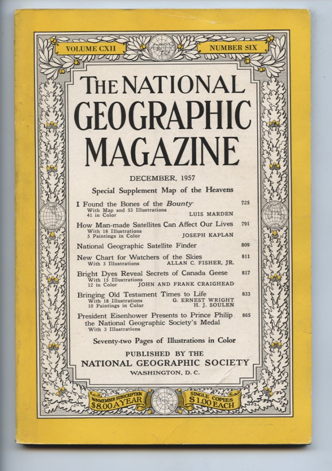 National Geographic Magazine December 1957