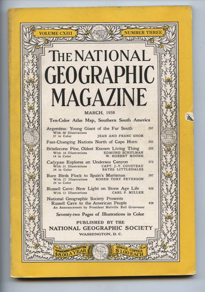 National Geographic Magazine March 1958
