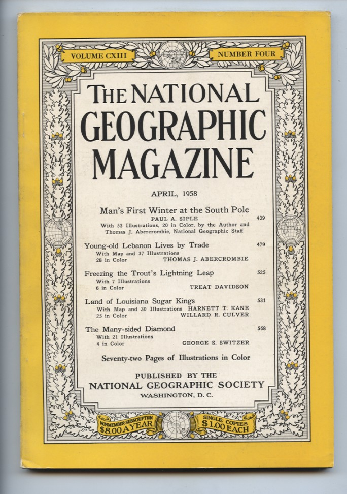 National Geographic Magazine April 1958