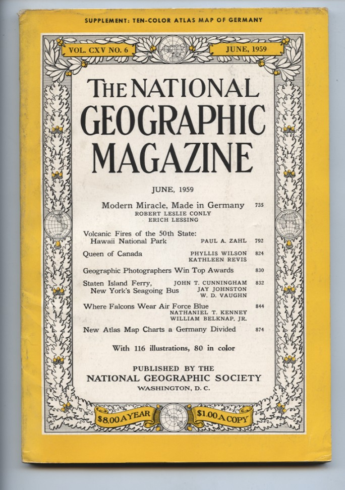 National Geographic Magazine June 1959