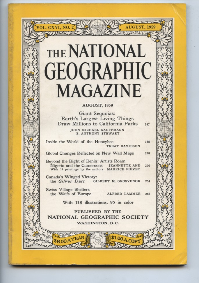 National Geographic Magazine August 1959
