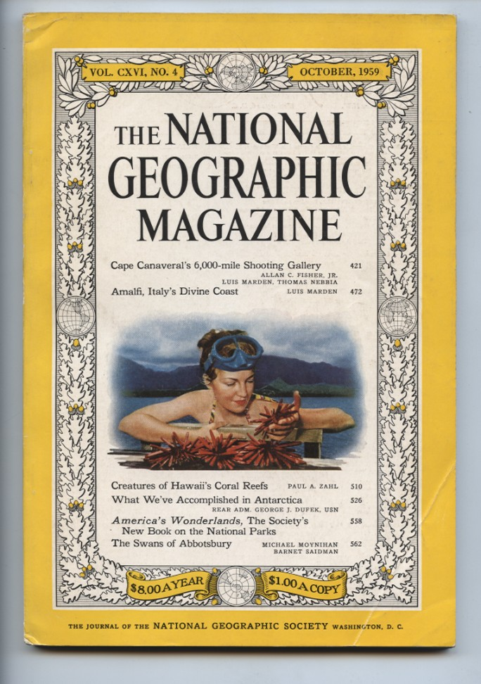 National Geographic Magazine October 1959