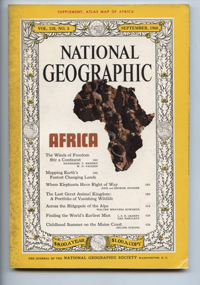National Geographic Magazine September 1960