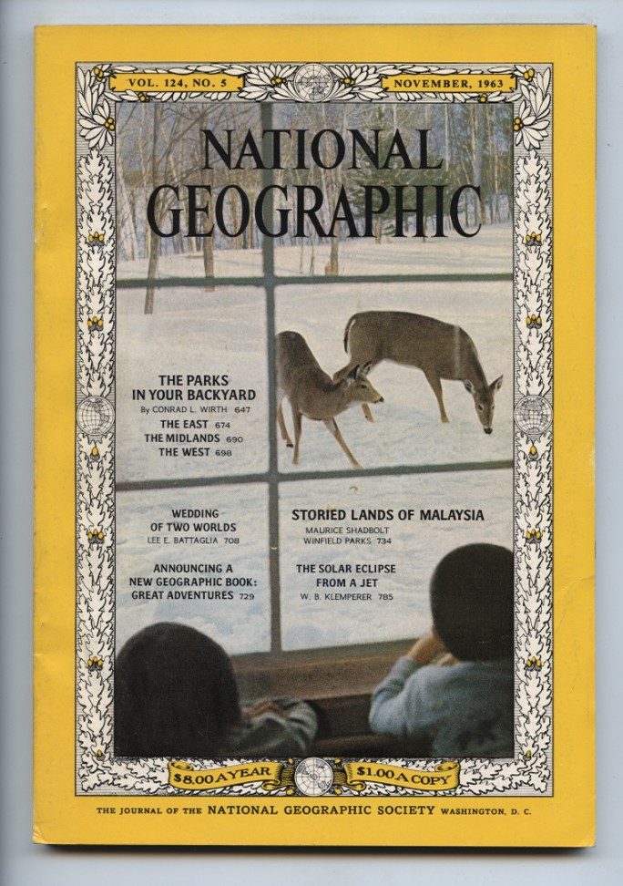 National Geographic Magazine November 1963