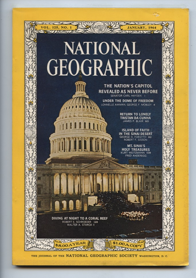 National Geographic Magazine January 1964