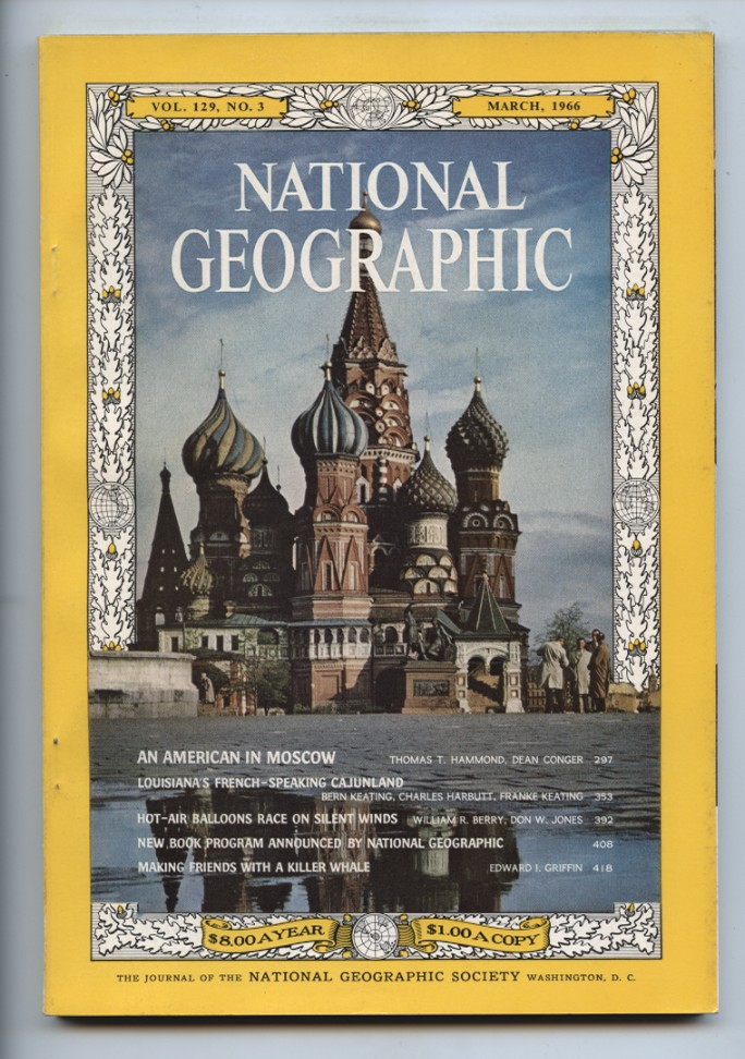 National Geographic Magazine March 1966