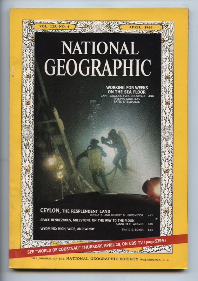 National Geographic Magazine April 1966