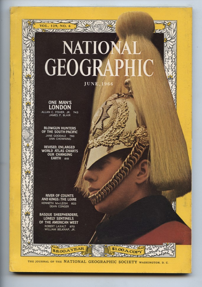 National Geographic Magazine June 1966