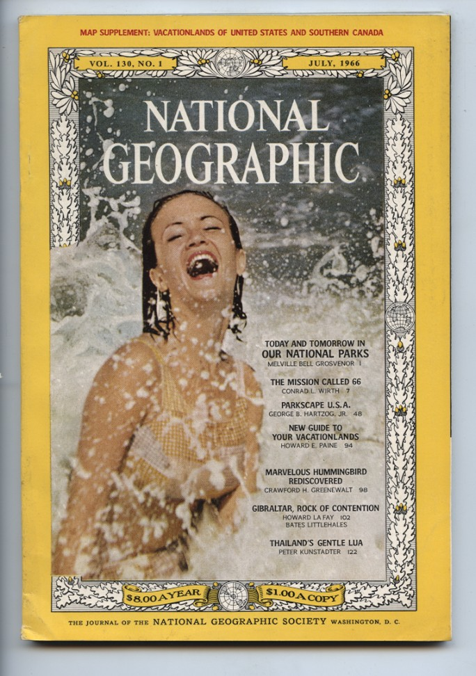 National Geographic Magazine July 1966