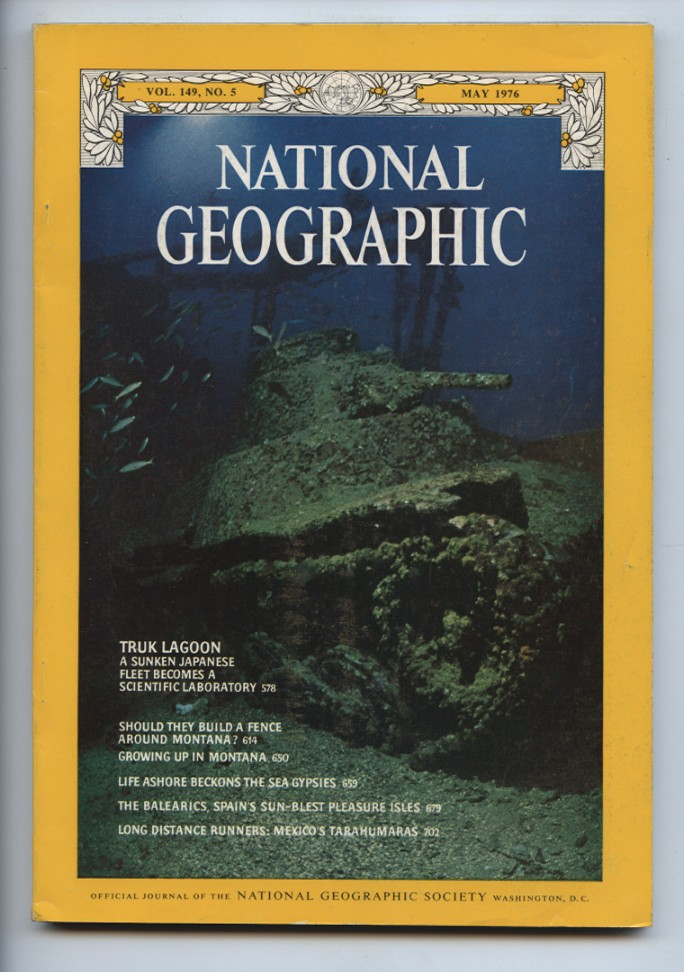 National Geographic Magazine May 1976