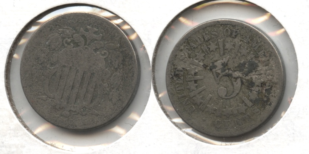 1866 Shield Nickel Fair-2 #d