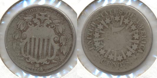 1866 Shield Nickel Good-4