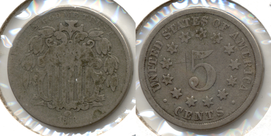 1868 Shield Nickel AG-3 i