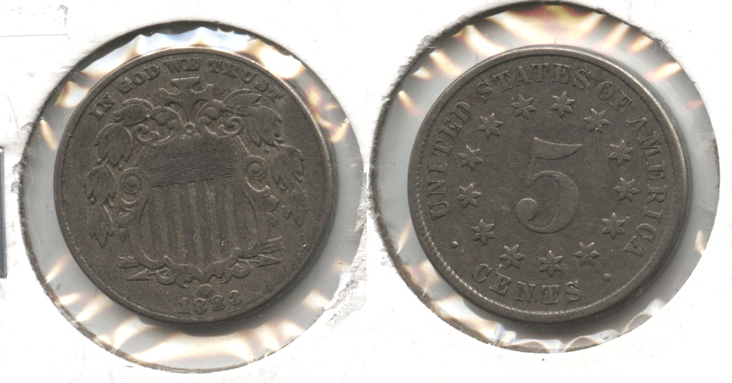 1883 Shield Nickel VF-20