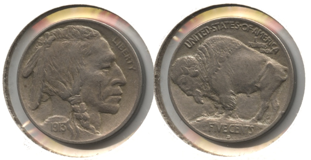 1913-D Type 1 Buffalo Nickel EF-45