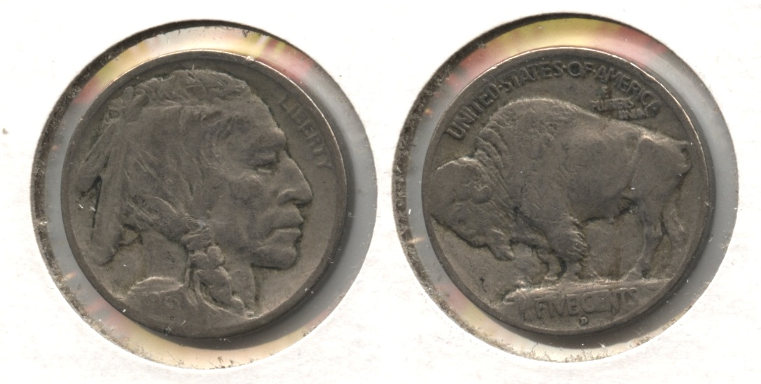 1913-D Type 1 Buffalo Nickel Fine-12 #d
