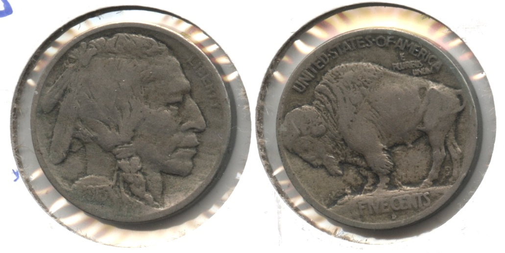 1913-D Type 1 Buffalo Nickel Fine-12 #f