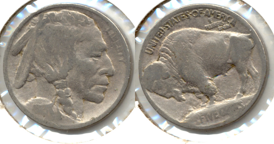 1913 Type 1 Buffalo Nickel AG-3 Cleaned