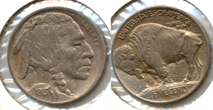 1913 Type 1 Buffalo Nickel AU-50 g