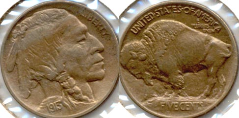 1913 Type 1 Buffalo Nickel AU-55 g