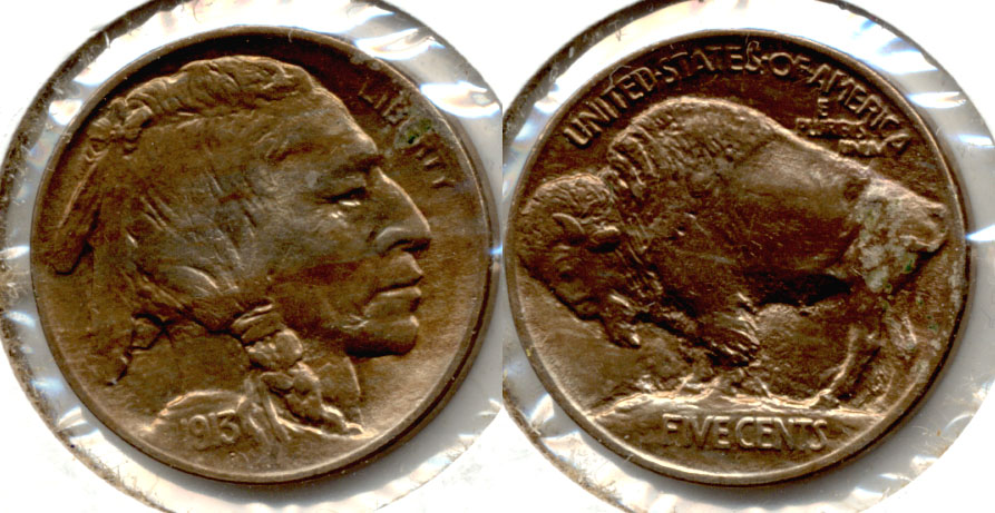 1913 Type 1 Buffalo Nickel AU-58