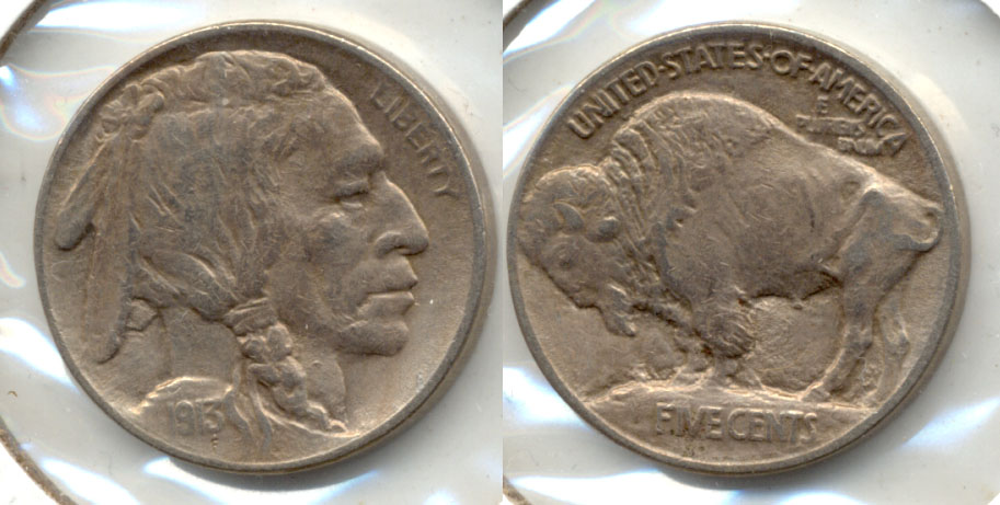 1913 Type 1 Buffalo Nickel EF-45