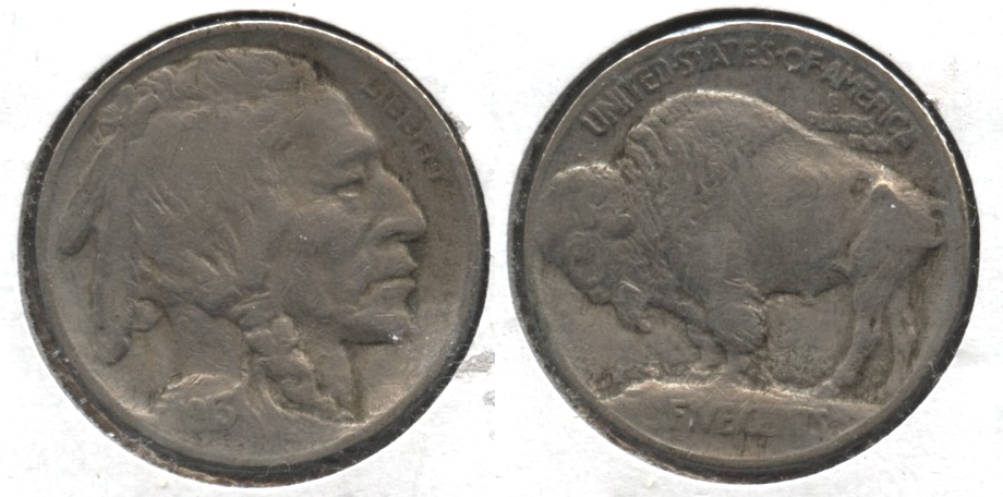 1913 Type 1 Buffalo Nickel Fine-12 #q