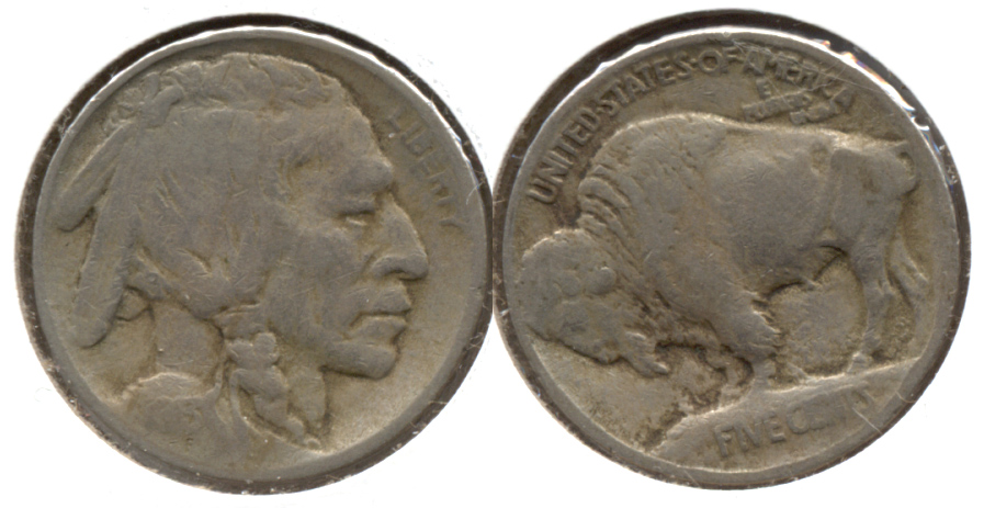 1913 Type 1 Buffalo Nickel VG-8 r