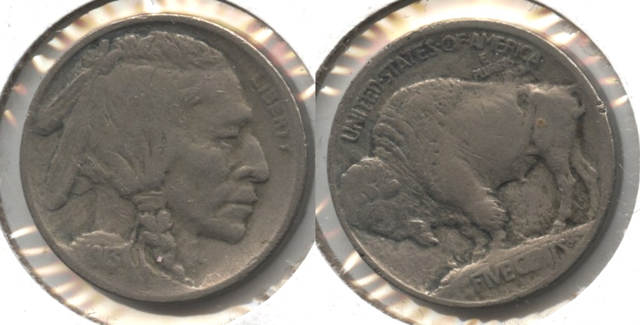 1913 Type 1 Buffalo Nickel VG-8 #v