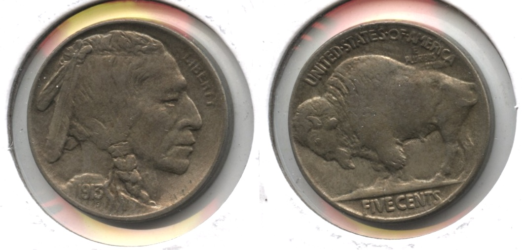1913 Type 2 Buffalo Nickel AU-50 #d