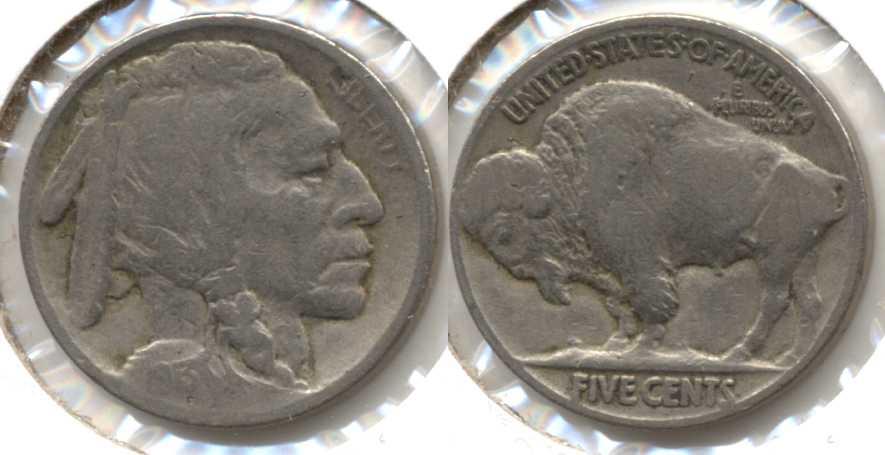 1913 Type 2 Buffalo Nickel Fine-12 e
