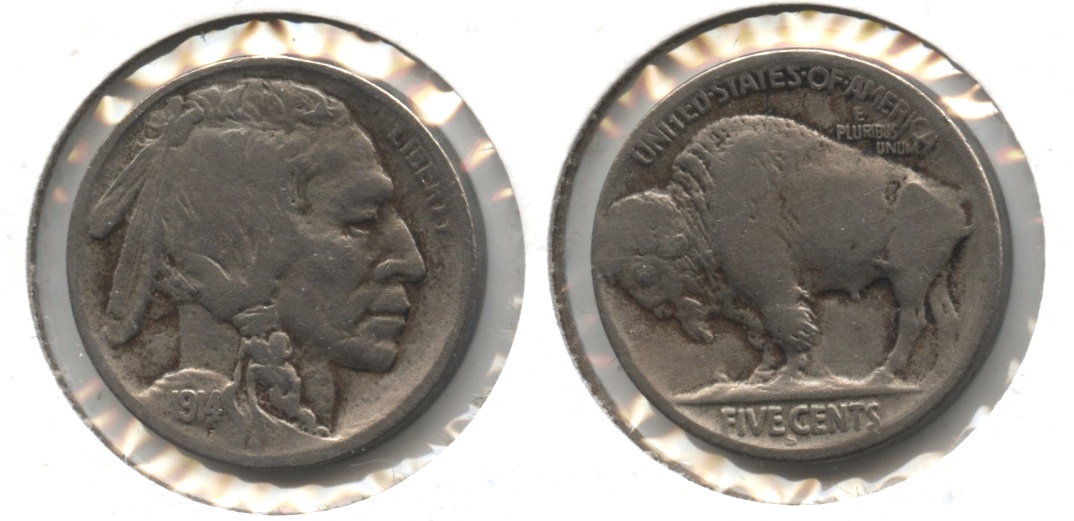 1914-S Buffalo Nickel VG-8 #b Lightly Cleaned