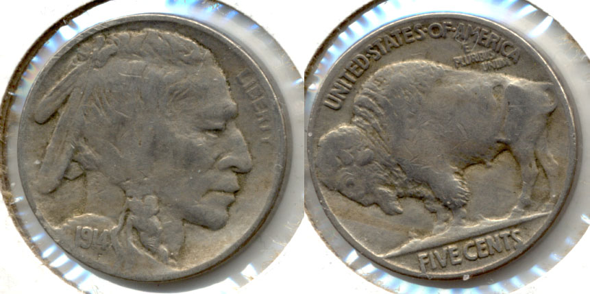 1914 Buffalo Nickel Fine-12 a