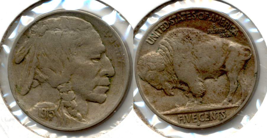 1915-D Buffalo Nickel VF-20