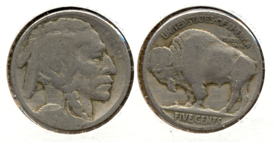 1915 Buffalo Nickel AG-3 l