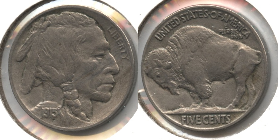 1915 Buffalo Nickel AU-55