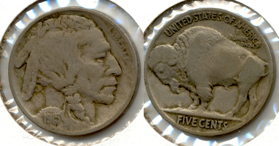 1915 Buffalo Nickel Fine-12 c