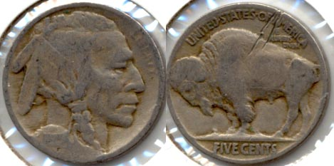 1915 Buffalo Nickel Good-4 s Scratched