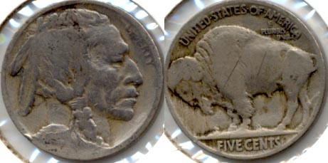 1915 Buffalo Nickel Good-4 t Cleaned Obverse