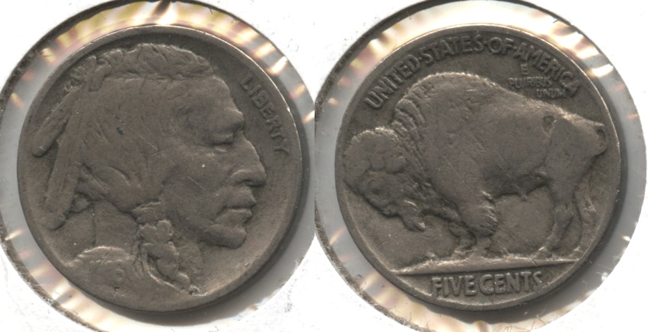 1916 Buffalo Nickel Fine-12 #ab Obverse Scratch